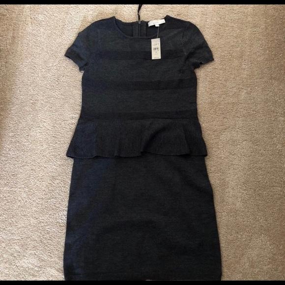 LOFT Dresses & Skirts - Peplum Sweater Dress NWT